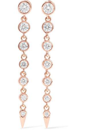 Jemma Wynne   18-karat rose gold diamond earrings   NET-A-PORTER.COM