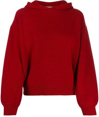 cropped volume sleeve hoodie