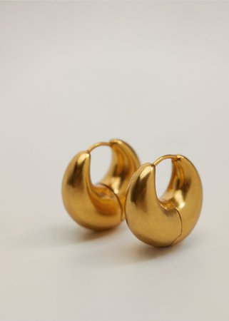 Thick hoop earrings - Women | Mango United Kingdom