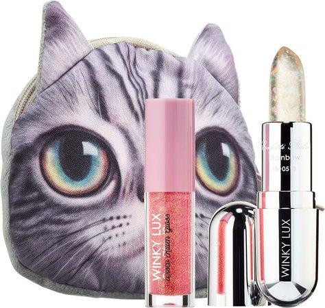 Winky Lux - Sparkle Kitty Lip Gloss + Balm Kit