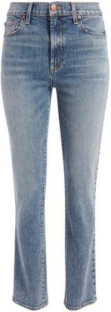 Stunning High Rise Straight Jean