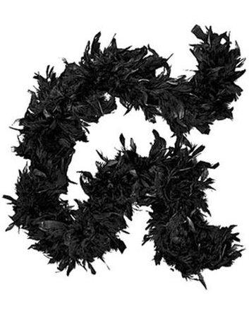 Deluxe Plush Black Feather Boa