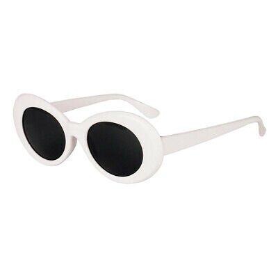 Retro Clout Goggles Glasses Oval Bold Mod Thick Framed Sunglasses White   eBay