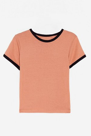 Round Two-Tone Relaxed Ringer Tee | Nasty Gal