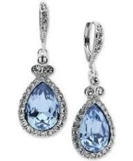 blue chandelier earrings - Google Search