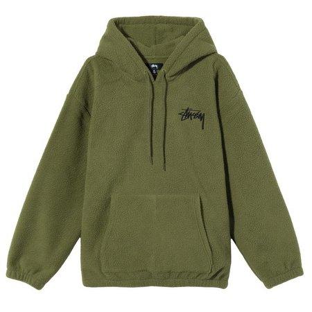 Bronson Polar Fleece Hood - Womens Sweatshirt   Stussy