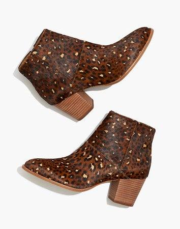 The Rosie Ankle Boot in Leopard Calf Hair brown