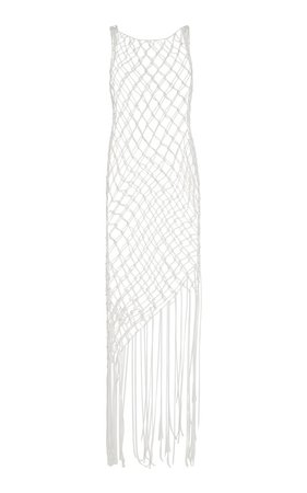 Fringed Cotton Fishnet Dress by Off-White c/o Virgil Abloh | Moda Operandi