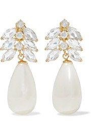 Loren Stewart | Aura 14-karat gold, diamond and topaz ear cuff | NET-A-PORTER.COM