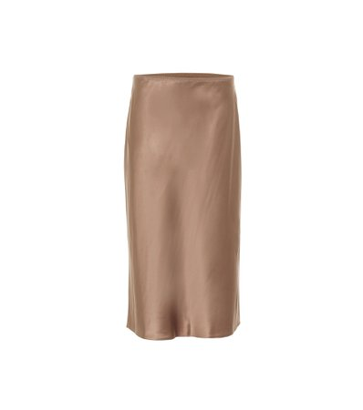 Joseph, Isaak silk-satin midi skirt