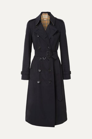 Burberry | The Chelsea Long cotton-gabardine trench coat | NET-A-PORTER.COM