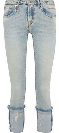 Kate Cropped Distressed Low-rise Skinny Jeans