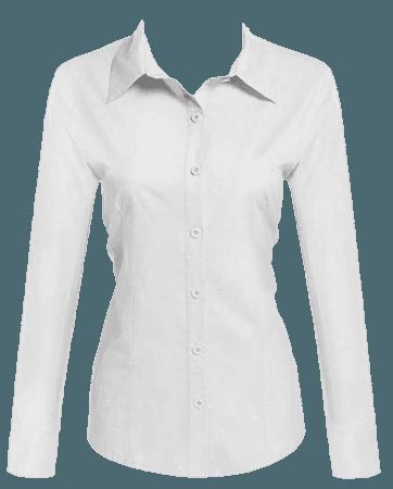 white shirt button blouse png