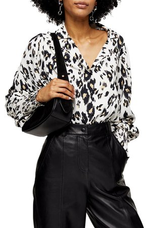 Topshop Scribble Animal Print Top | Nordstrom