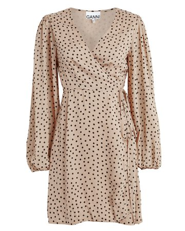 Ganni | Polka Dot Georgette Wrap Dress | INTERMIX®