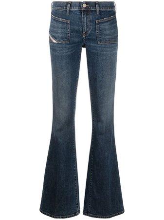 Diesel, D-Ebbey-X low-rise flared jeans