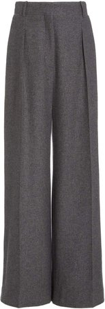 The Row Philly Pleated Cashmere Wide-Leg Pants