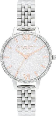 Glitter Dial Bracelet Watch, 34mm