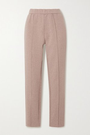 Hanley Melange Cotton-blend Jersey Track Pants - Pink