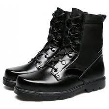 black combat boots men