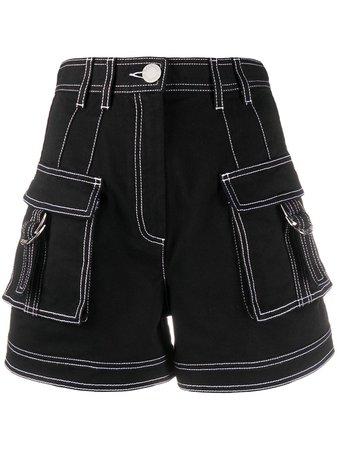 Balmain High Waisted Denim Shorts Ss20   Farfetch.com