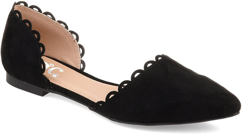 Amazon.com | Journee Collection Womens Jezlin Flat Black, 10 Regular US | Flats