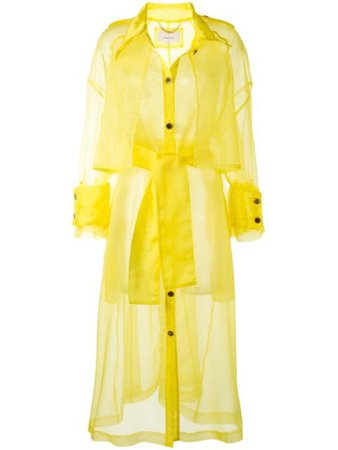 AKIRA NAKA Oversized Organza Trench Coat - Farfetch