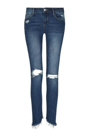 Blue Destroyed Jeans - Jeans - CLOTHING