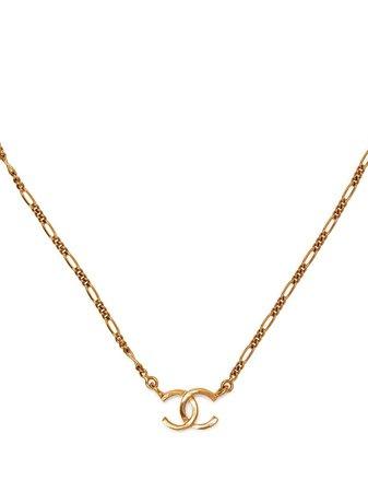 Chanel Pre-Owned 1980s Mini CC Necklace - Farfetch