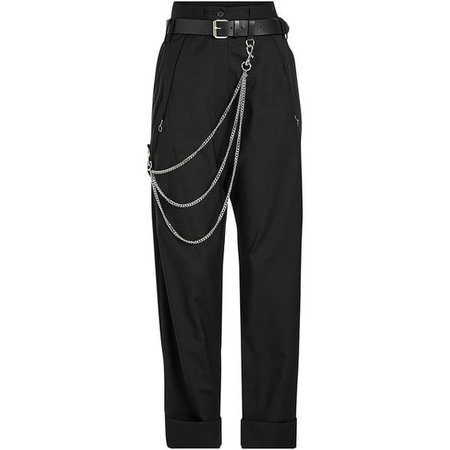 black trousers pants chain