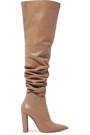 Gianvito Rossi | 100 leather over-the-knee boots | NET-A-PORTER.COM