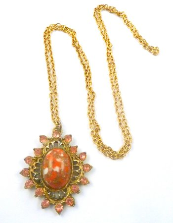 vintage-pink-rhinestone-and-red-stone-pendant-and-necklace.-2033-1-p.jpg (1594×2048)