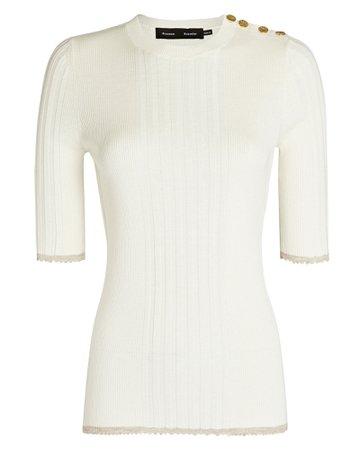 Proenza Schouler Silk-Cashmere Rib Knit Top | INTERMIX®