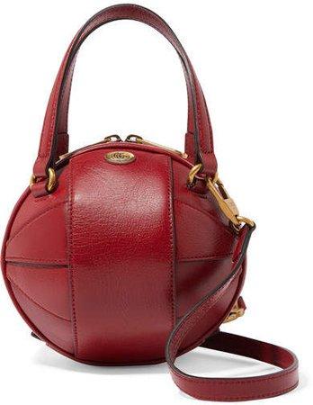 Tifosa Leather Shoulder Bag - Red