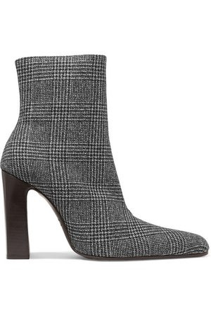 Balenciaga | Prince of Wales checked wool ankle boots | NET-A-PORTER.COM