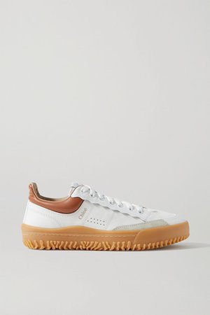 Franckie Leather And Suede Sneakers - White