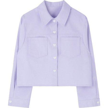 HEART CLUBHeart Button Boxy Jacket | mixxmix