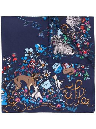 Salvatore Ferragamo floral-print Silk Scarf - Farfetch
