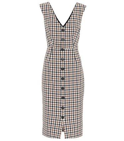 Lark checked cotton-blend dress