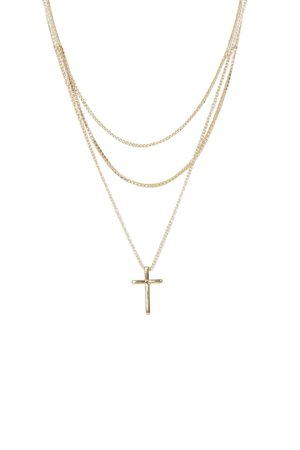 gold layered cross necklace - Google Search