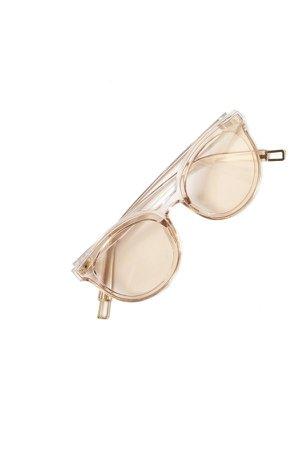 Crystal Sunglasses in Blush