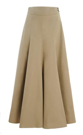 Amelina High-Rise Cotton Skirt