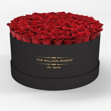 ( LA ) Black - Deluxe Box with Red Roses – The.Million.Roses