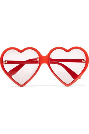 Gucci | Heart-shaped acetate sunglasses | NET-A-PORTER.COM