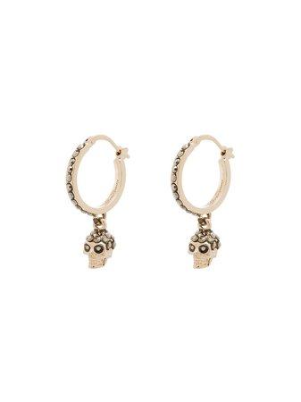 Alexander McQueen Skull Hoop Earrings - Farfetch