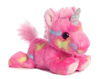 "Aurora Jellyroll Unicorn Bright Fancies Plush Stuffed Animal 7"""
