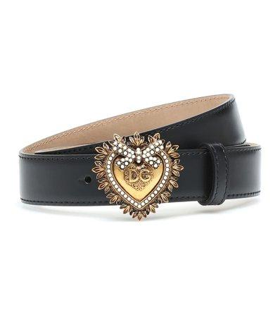 Embellished Leather Belt - Dolce & Gabbana | mytheresa.com