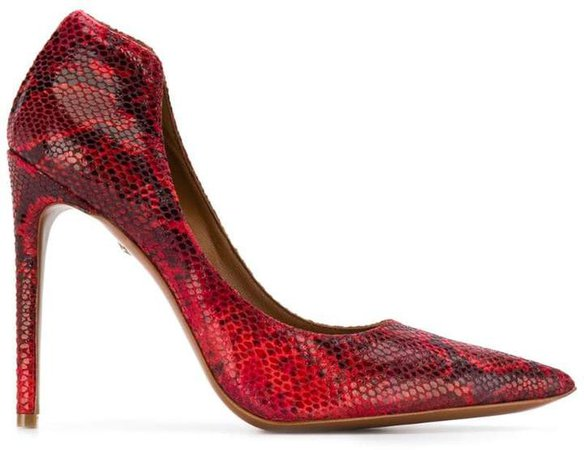 snakeskin effect pumps