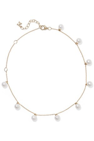 Mateo | 14-karat gold pearl anklet | NET-A-PORTER.COM