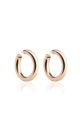 Baby Jamma 14K Rose Gold-Plated Hoop Earrings by Jennifer Fisher | Moda Operandi
